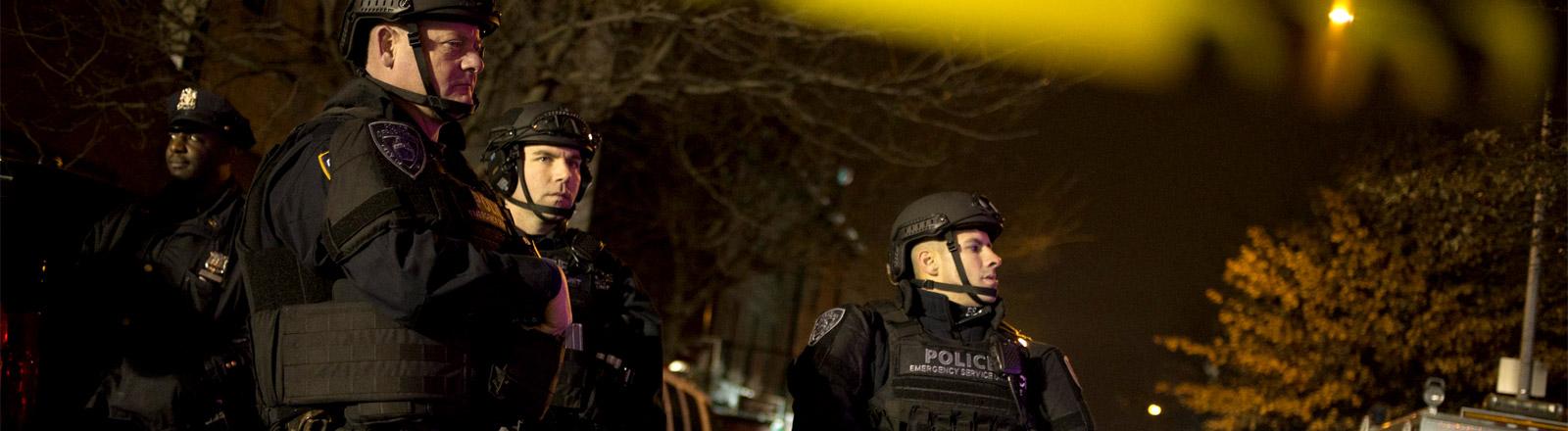 Drei Polizisten der NYPD