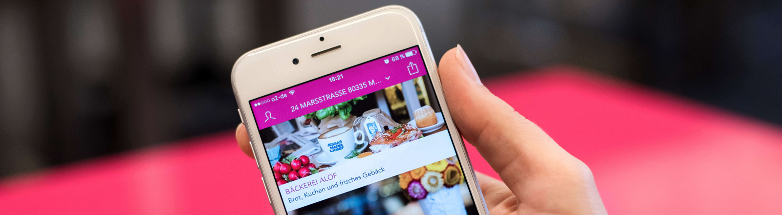 Display der Foodora-App.