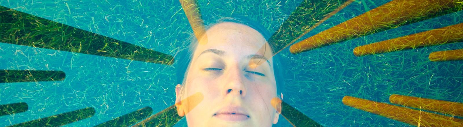 Eine Frau träumt, psychedelische Formen