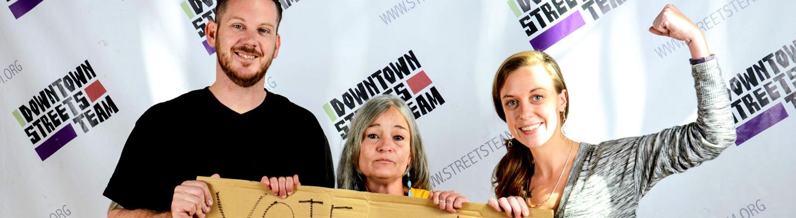 Aktivisten für das Affordable Housing Project