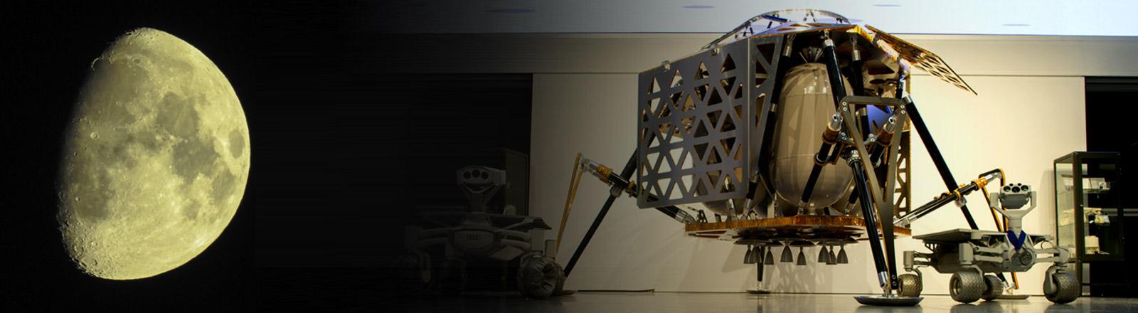 Der Mond und das Raumschiff Alina des Entwicklerteams Part Time Scientists
