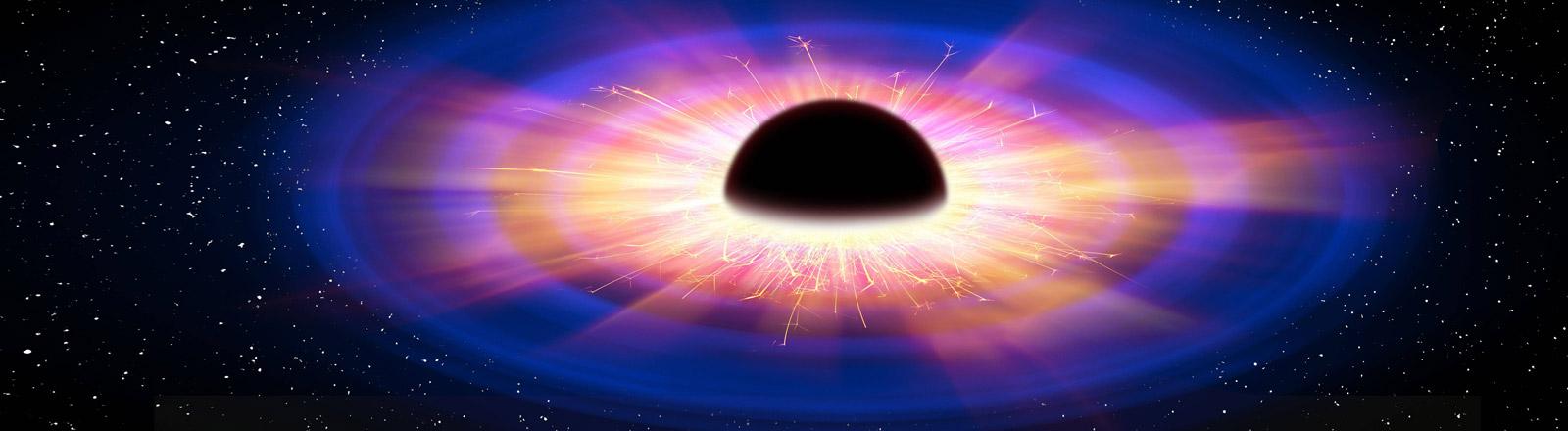 Grafische Darstellung eines Schwarzen Lochs