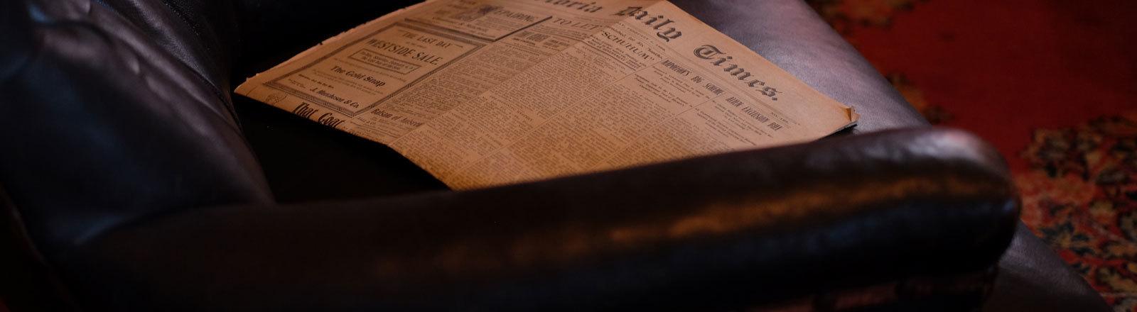 Eine alte Zeitung
