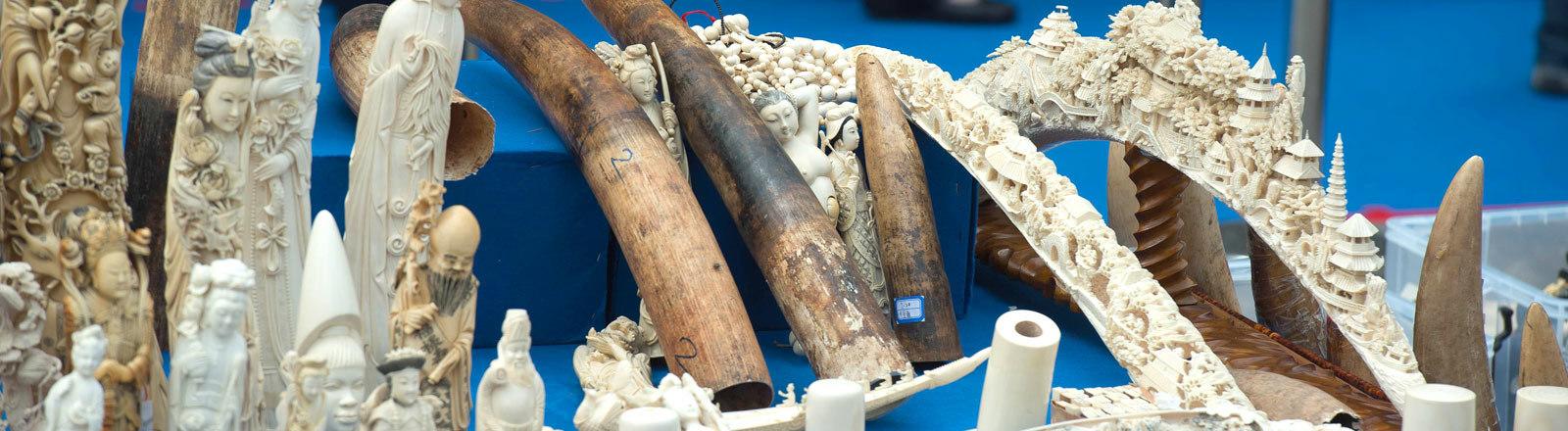 beschlagtnahmtes Elfenbein in China