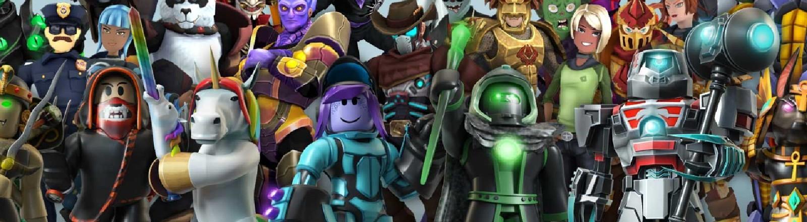 Übersicht aller Spielfiguren der Spieleplattform Roblox.