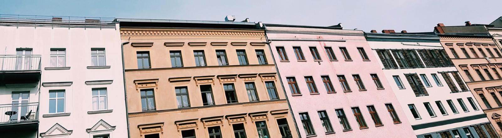 Häuserzeile in Berlin.