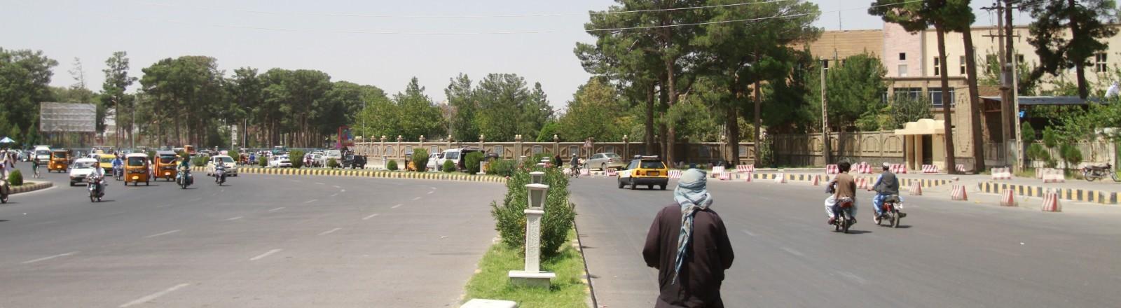 Eine Straße in Kabul.