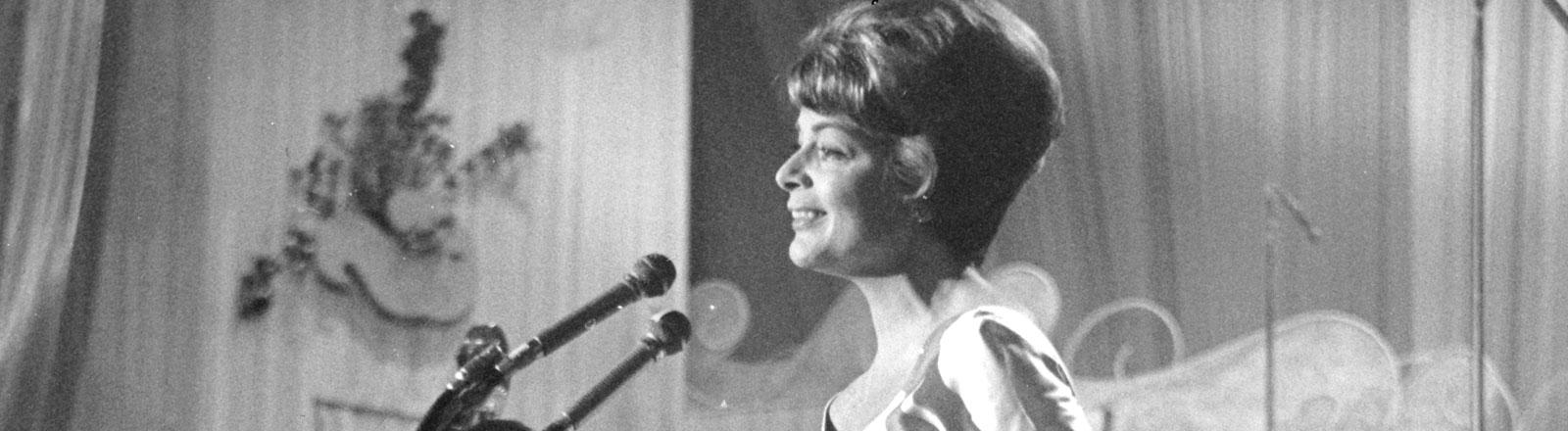 Lys Assia hat 1956 den ersten Grandprix d'Eurovision de la Chanson gewonnen.