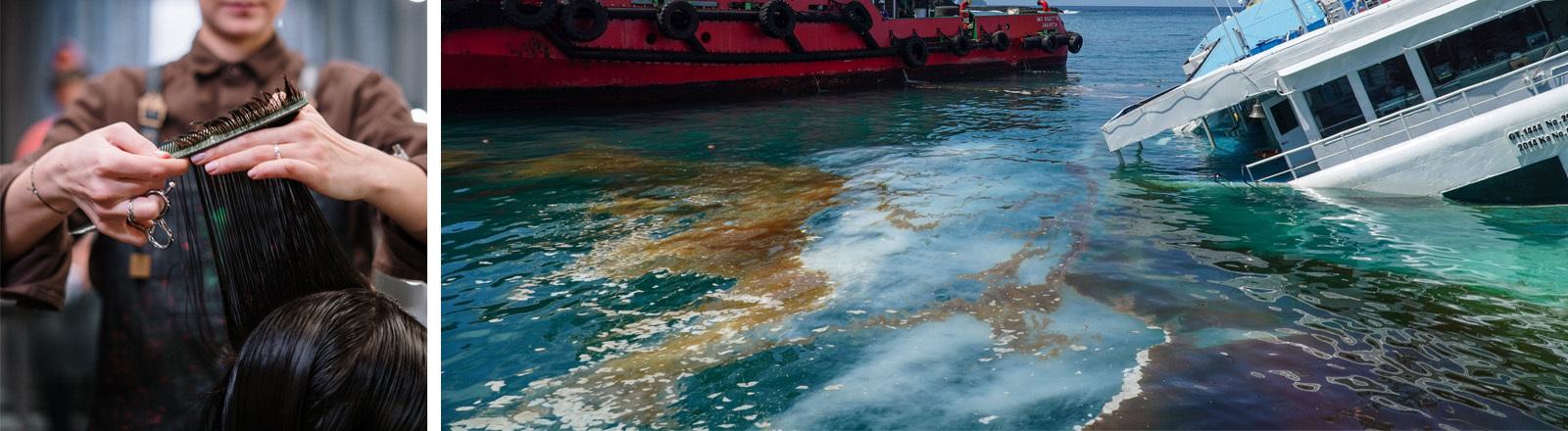 Ölteppich auf dem Meer