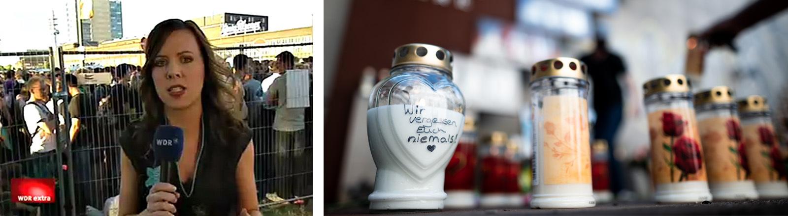 Die Gedenkstätte des Loveparade-Unglücks