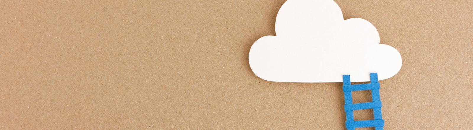 Wolke und Leiter aus Karton