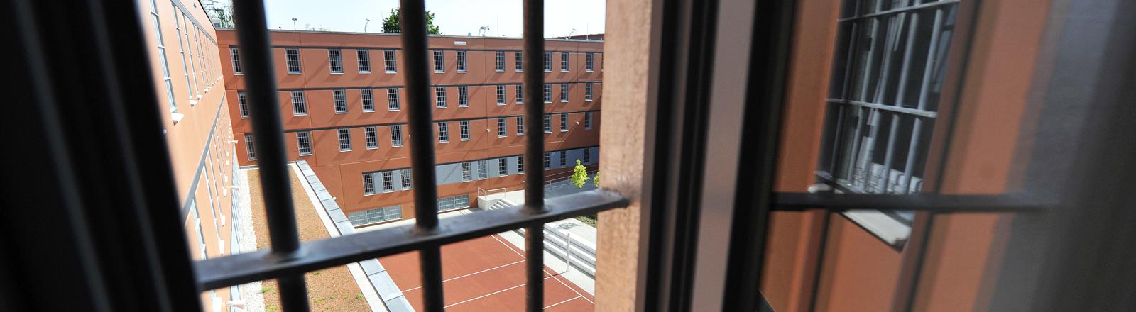 Blick aus einer Zelle der Justizvollzugsanstalt Stadelheim in München.