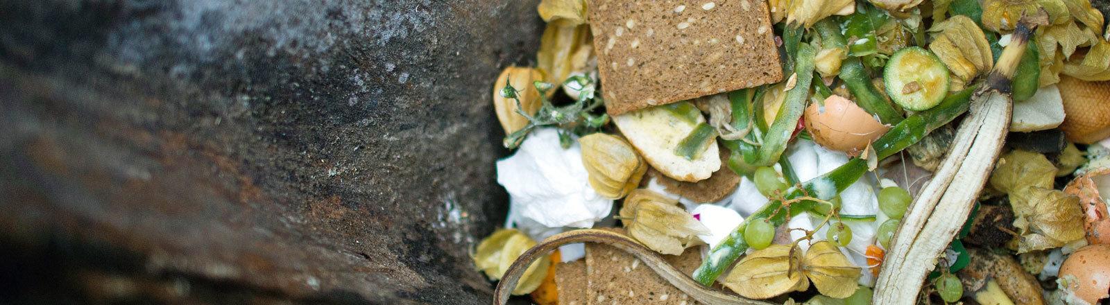 Lebensmittel, die im Müll landen