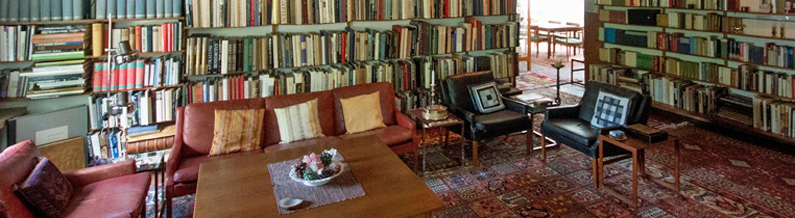 Das Wohnzimmer von Helmut und Loki Schmidt