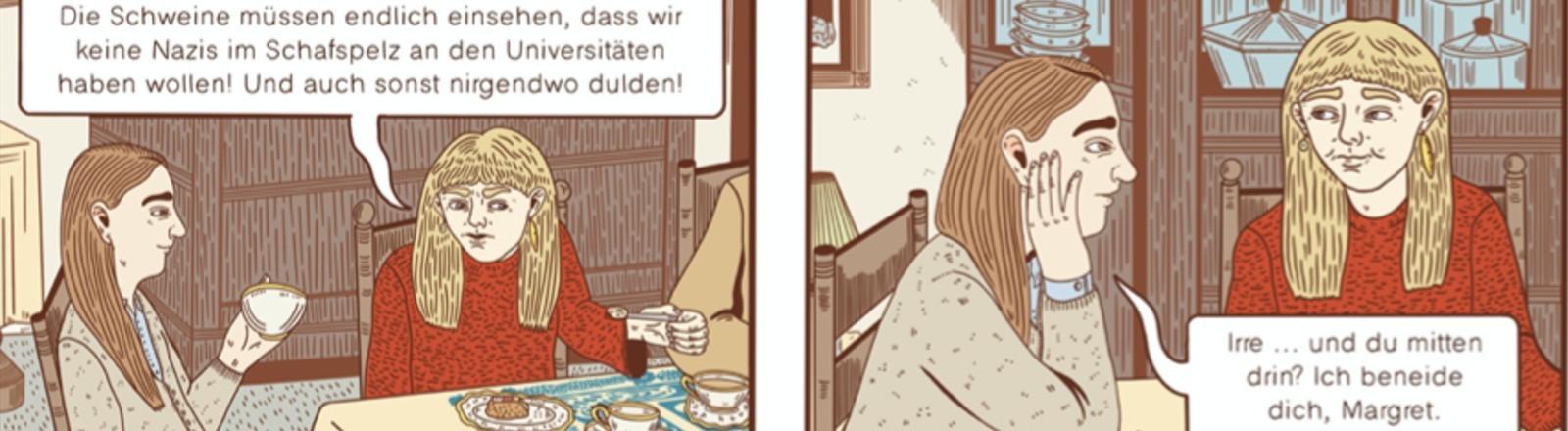 """Screenshot von einer Leseprobe des Comics """"Gegen mein Gewissen""""."""