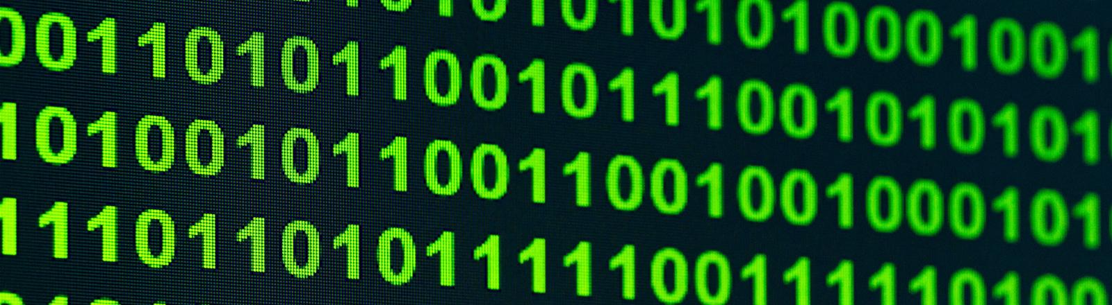 Binärcode auf Screen