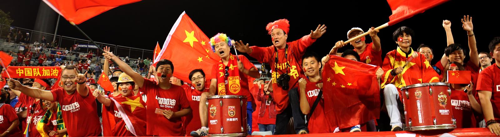Chinesische Fußballfans