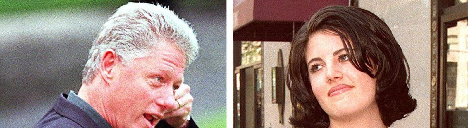 Die Kombo mit undatierten Archivbildern zeigt US-Präsident Bill Clinton und Monica Lewinsky.