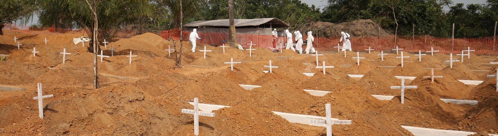 Friedhof von Ebola-Toten