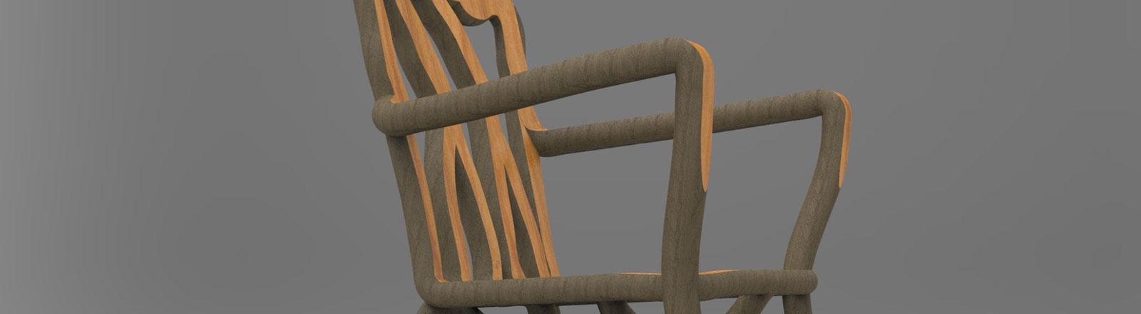 Ein selbst gewachsener Stuhl von Designer Gavin Munro