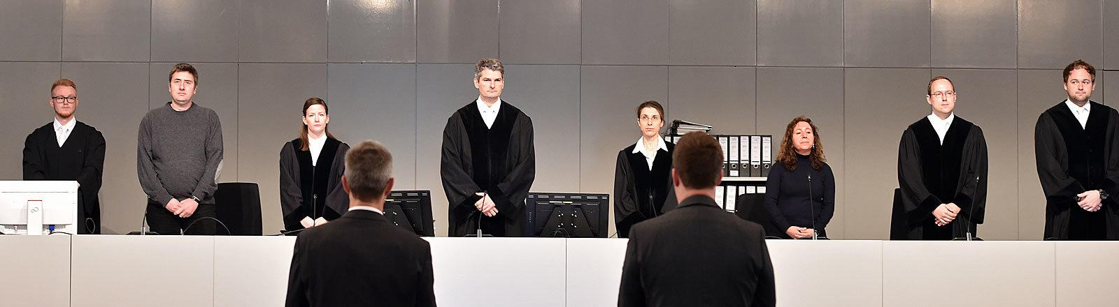Szene aus dem Gerichtssaal während des Loveparade-Prozesses