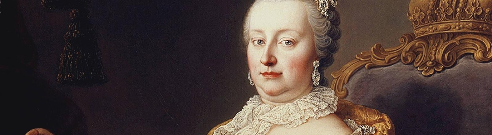 Ein Gemälde der österreichischen Kaiserin Maria Theresia