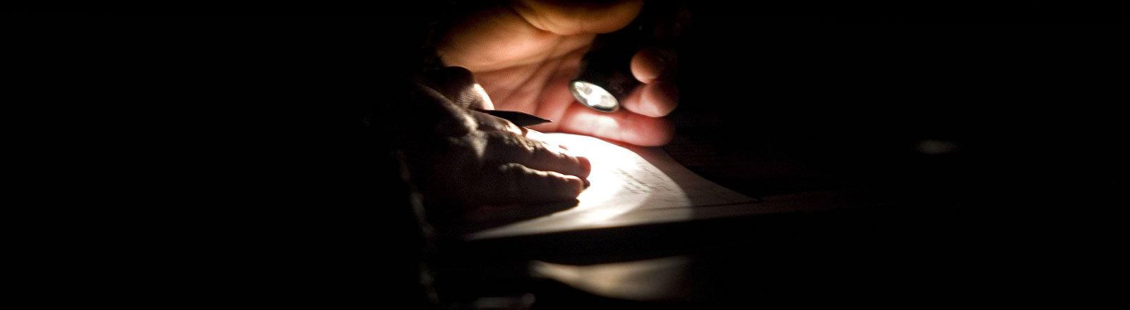 Schreiben im Dunkeln