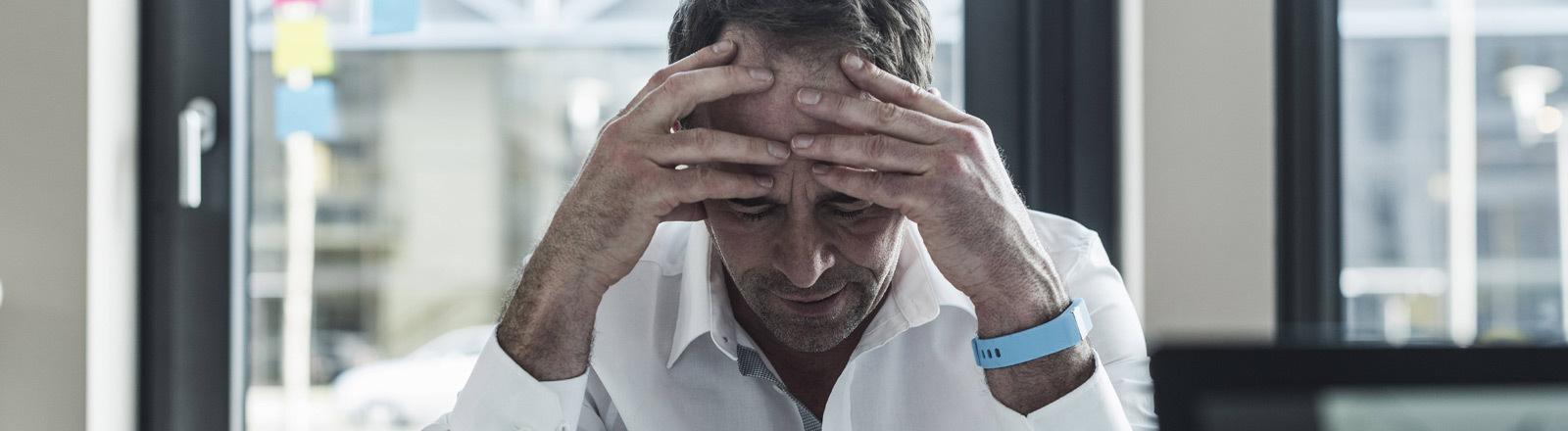 Ein gestresster Mann.