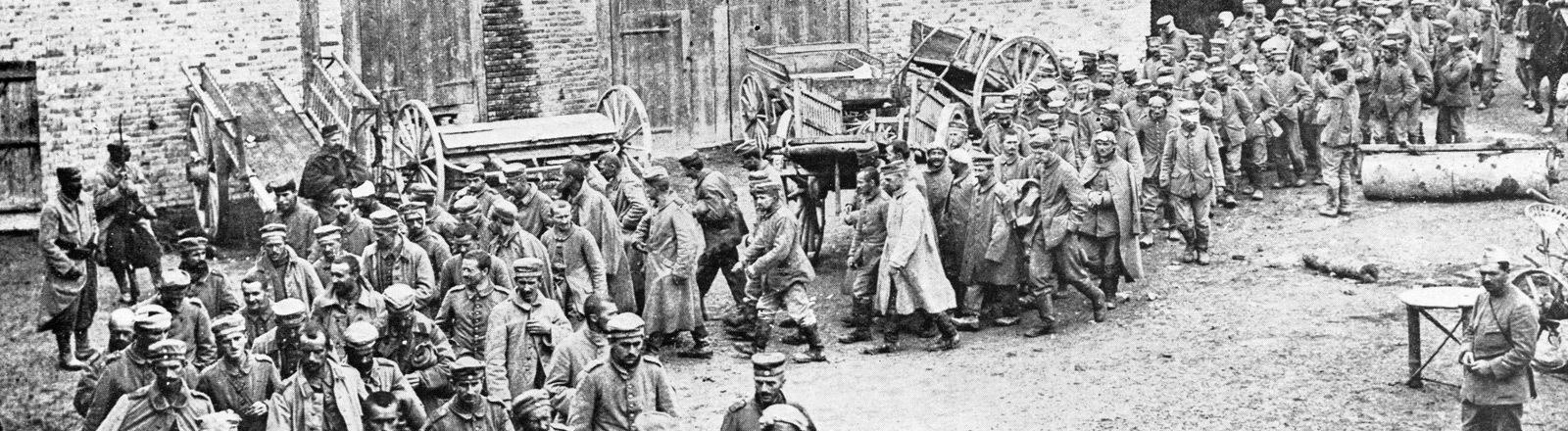 Deutsche Gefangene, 1915, Frankreich, Europa