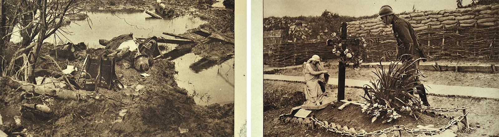 Szenen aus dem Jahr 1917 in Flandern