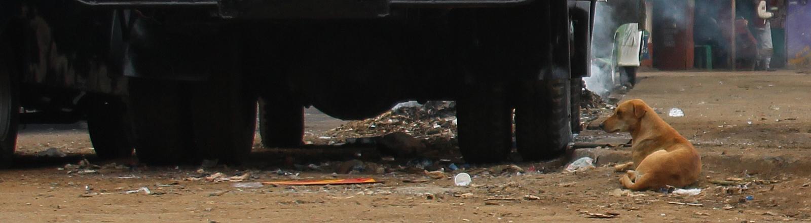 Kenai, Nairobi, Stadtteil Kibera, Autowerkstatt
