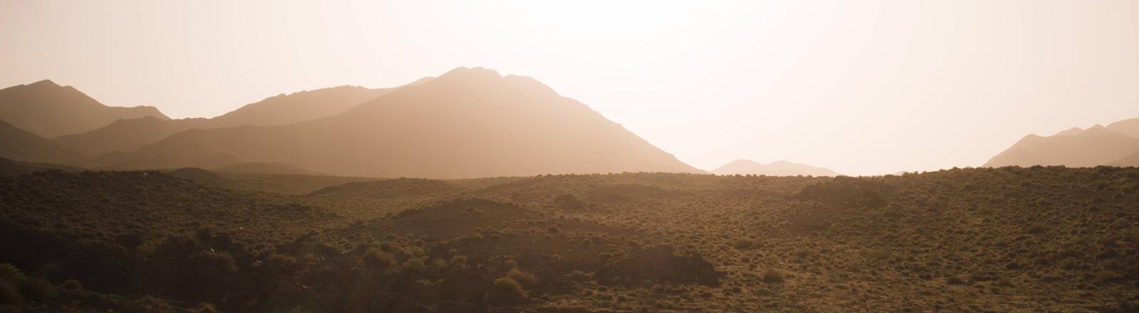 Wüste bei Isfafan im Iran