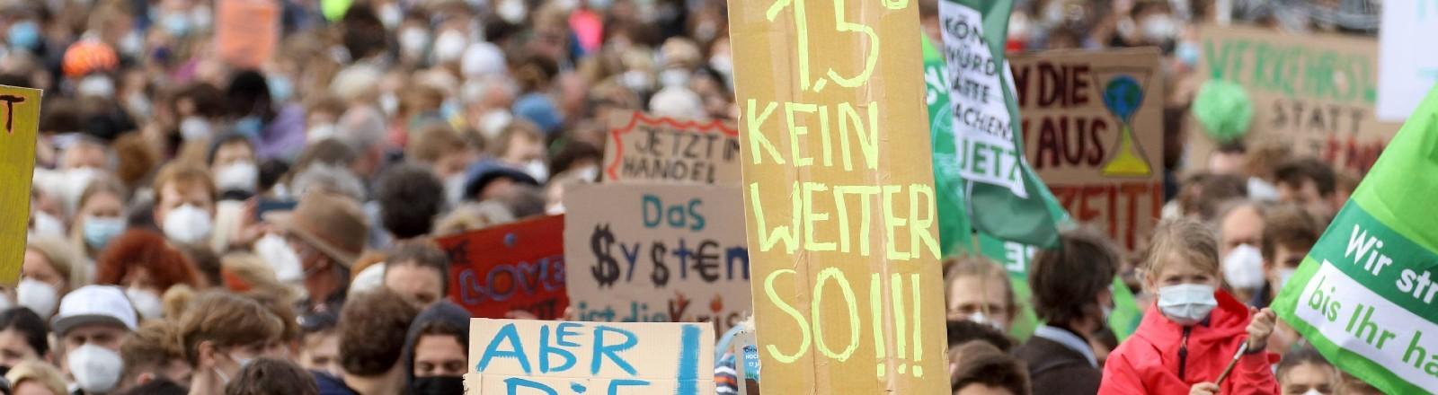 Klimastreik am 24.09.2021 in Berlin.