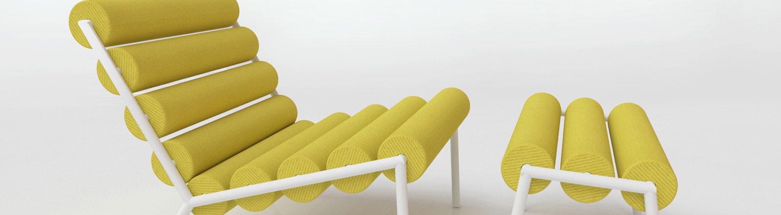 Gelber Designstuhl