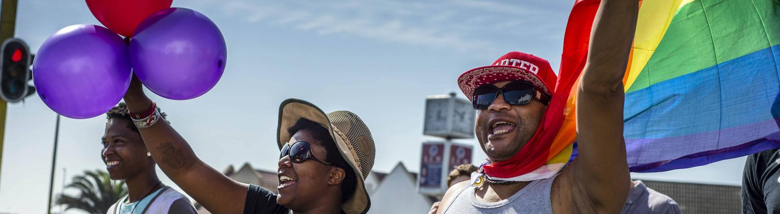 Gay Parade in Swakopmund, Namibia
