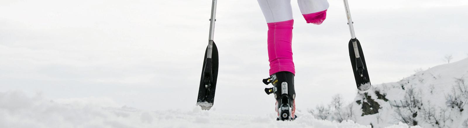 Eine Sportlerin beim Training im Rosa Khutor Alpine Center.