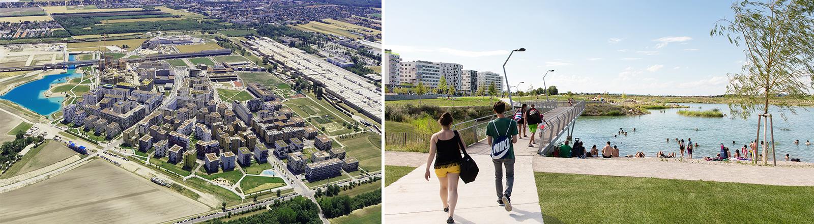Planungsmodelle des Wiener Stadtteils Seestadt Aspern