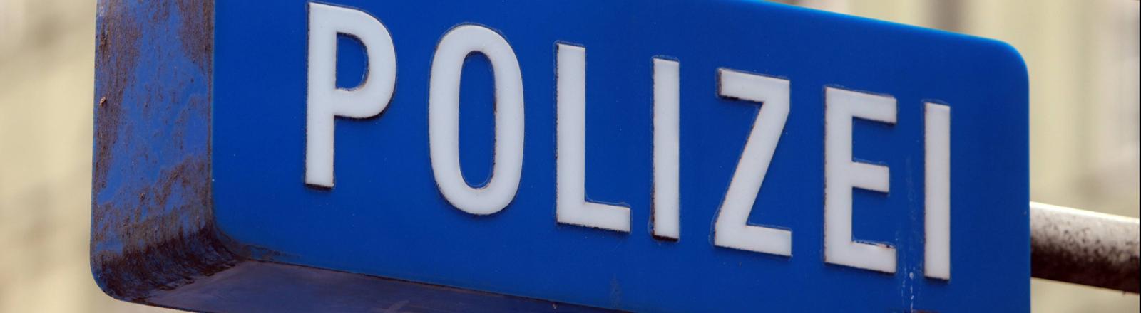 Polizeischild in München
