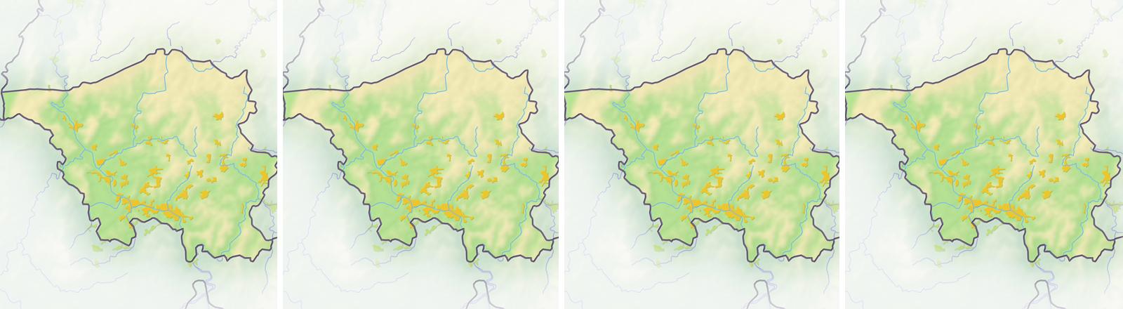 Grafiken des Saarlandes