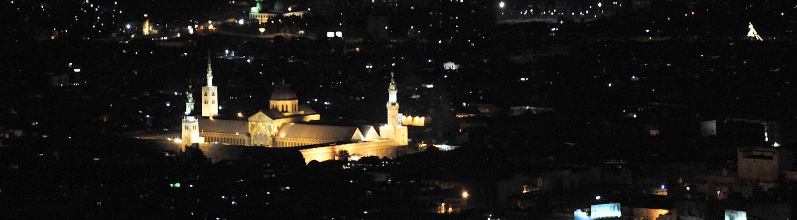 Nachtaufnahme von Damaskus