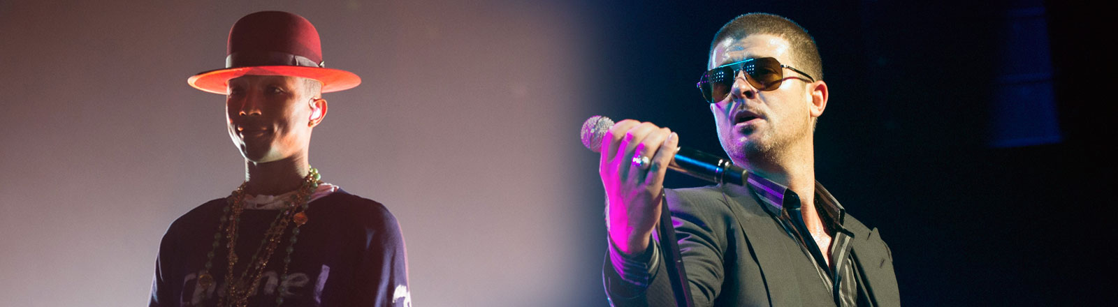 Musiker Robin Thicke und Pharrell Williams