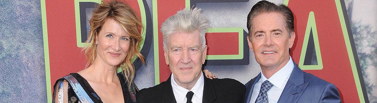 Laura Dern, David Lynch, Kyle MacLachlan bei der Premiere der neuen Twin Peaks Staffel 2017