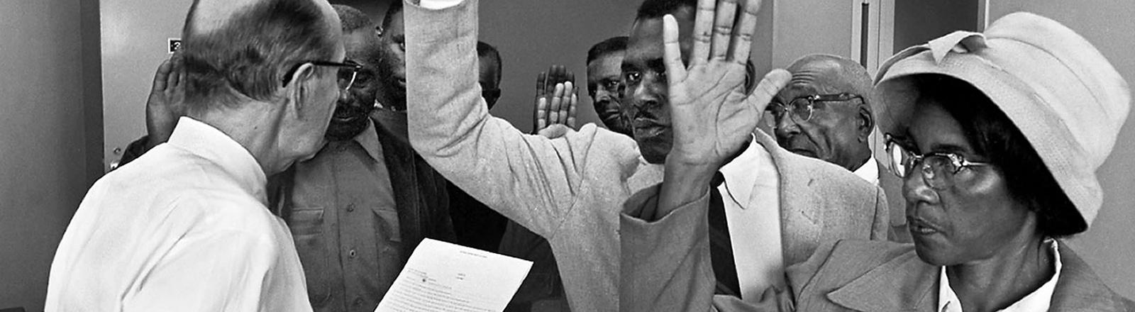 Schwarze und weiße Bürgerrechtler