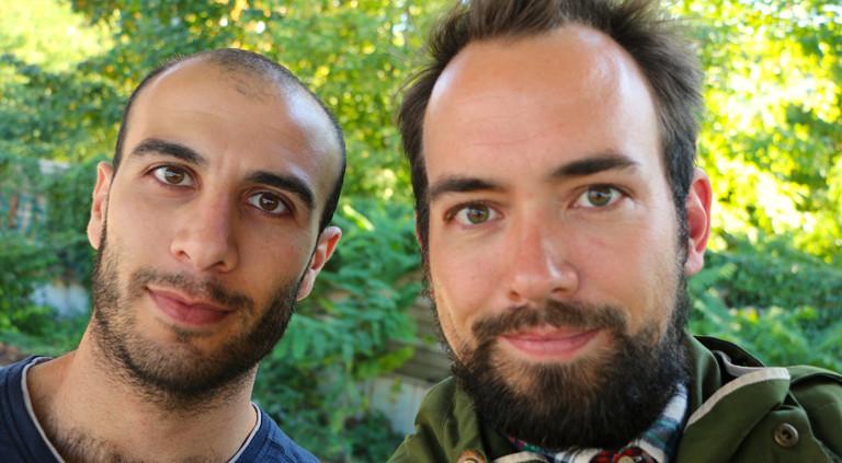 Omar und Reporter Dominik Schottner