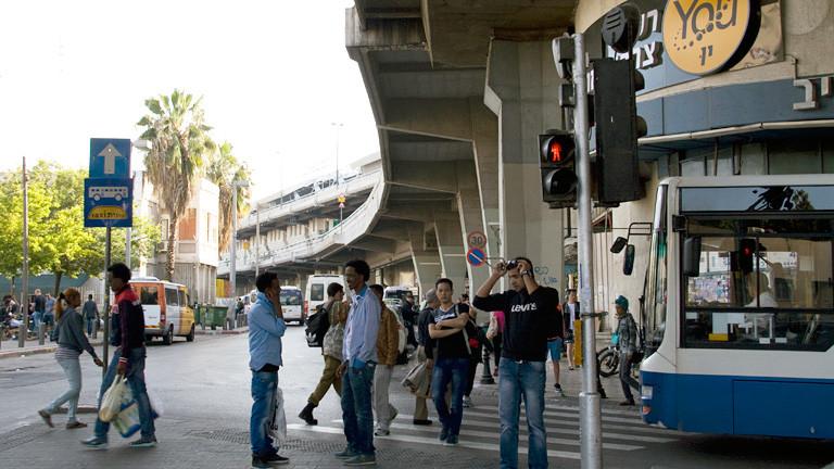 Außenansicht des Busbahnhofs Tel Aviv