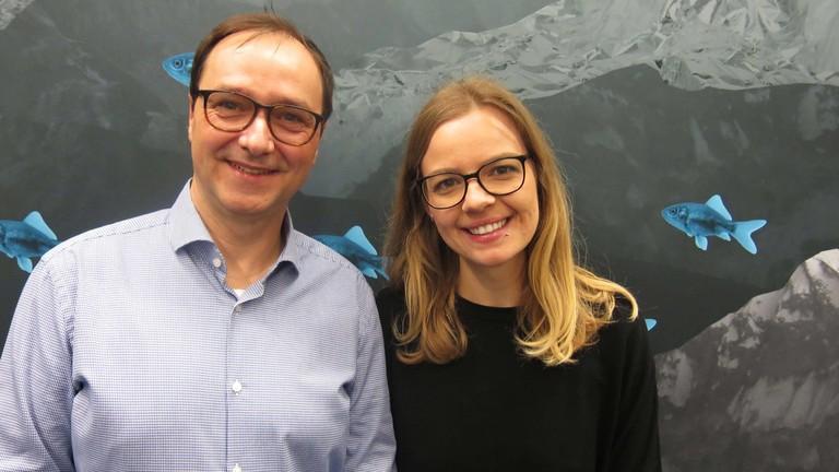 Thorge Berger und Jenni Gärtner