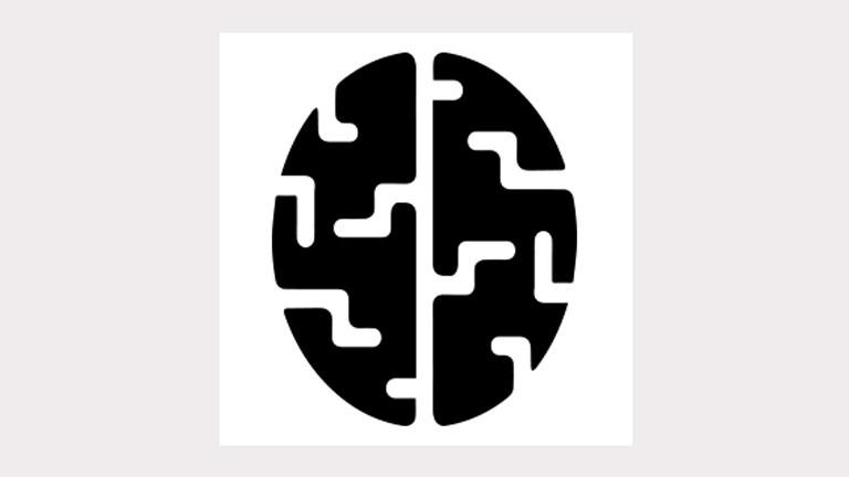 """Logo des Projekts """"Speichern unter"""": Zeigt eine graphische Darstellung eines Gehirns von oben."""