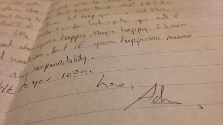 Ein Liebesbrief Adnans