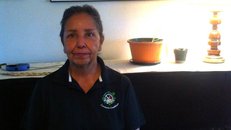 Charmain White Face, die Umweltaktivistin kämpft für die Beseitigung der Umweltverschmutzung durch den Uranabbau in South Dakota.