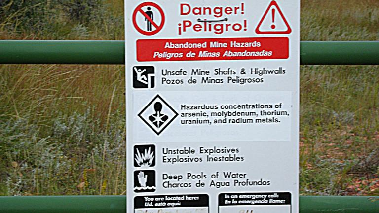 Gefahrenhinweis beim Riley Pass
